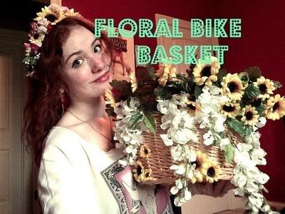 DIY: Floral Bike Basket!