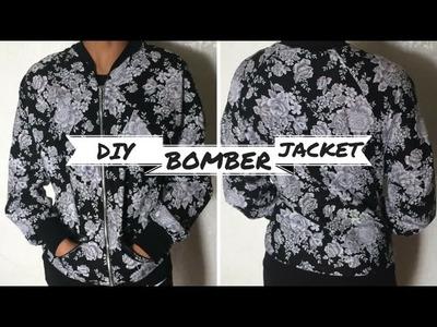 DIY Floral Bomber Jacket