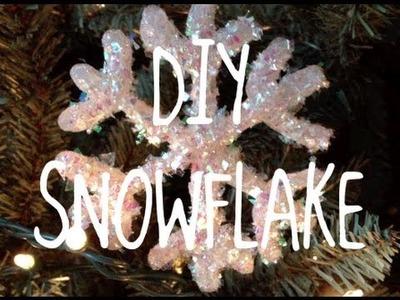 DIY Glitter Snowflake Ornament!
