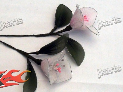 DIY How to make bougainvillea Stocking Flower - JK Arts 092