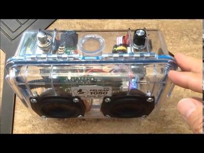 DIY Pelican Boombox Video Schematics Description
