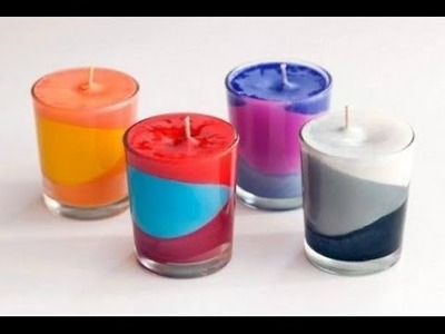 DIY Room Decor ✿ How to Make muti color Crayon Candles! (DIY Velas de Crayola)