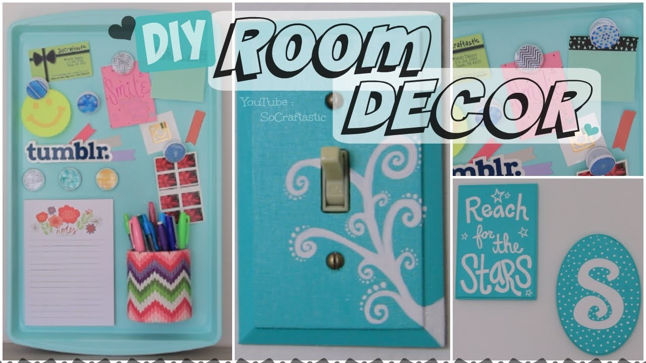 DIY Room Decor. Wall Art & Magnetic Memo Board How To