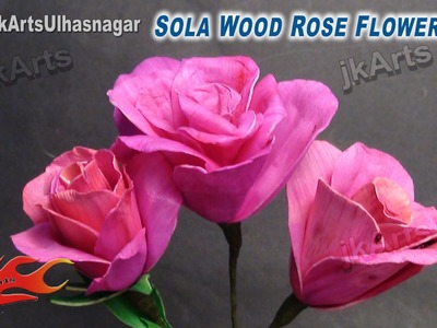 DIY Sola Wood Rose Flower | How to make | JK Arts 617
