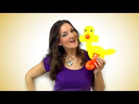 Easter Chick Balloon Animal How To Instructions - Tutorial Tuesday!