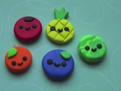 Flat Fruit Charms Tutorial! ◕ ‿◕