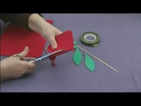 Foam Flower Crafts for Kids : Making Rose Petals for Kids' Crafts