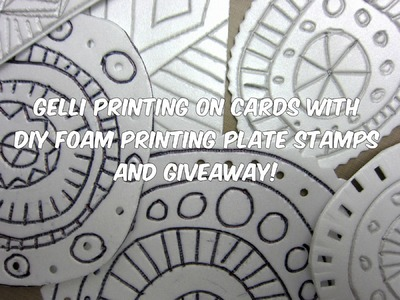 Gelli® Printing with DIY Foam Printing Stamps!