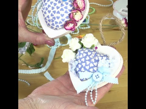 Heart pin cushion by Debbie Shore
