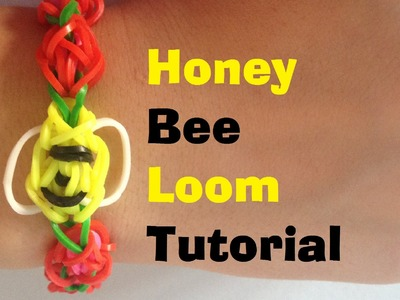 HONEY BEE Loom bracelet Tutorial Rainbow Loom l JasmineStarler