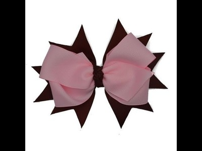 How To Add Ribbon Spikes To Hair Bows