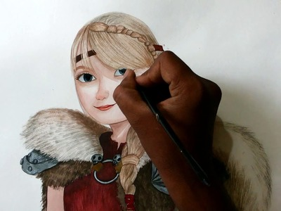 How to draw astrid from how to train your dragon 2