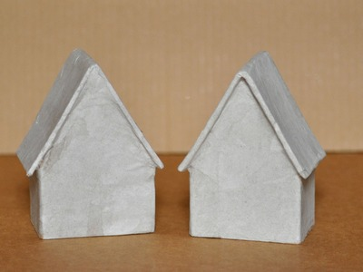 How to make a paper mache house