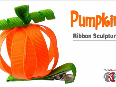 How to Make a Pumpkin Ribbon Sculpture - TheRibbonRetreat.com