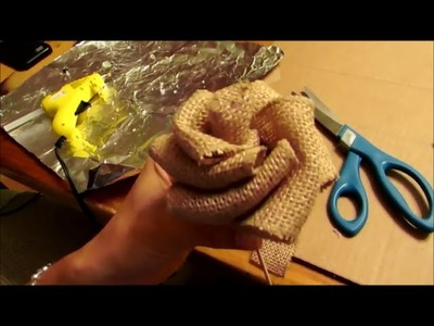 How to make BURLAP RIBBON ROSES
