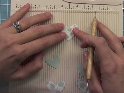 How to make embellishments from die cuts