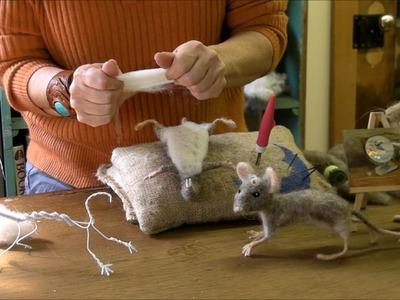 How to Needle Felt - Mouse Series 4: Pelt by Sarafina Fiber Art