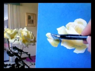 How to Paint Yellow Roses, by Marjorie Harris Clark