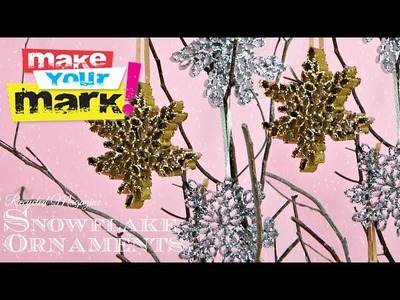 How to: Recycled Magazine Snowflake Ornaments