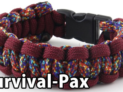 How To: Two-Color Cobra Weave Paracord Bracelet with Buckle