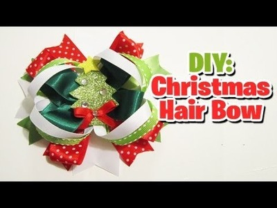 Last minute Christmas hair bow tutorial