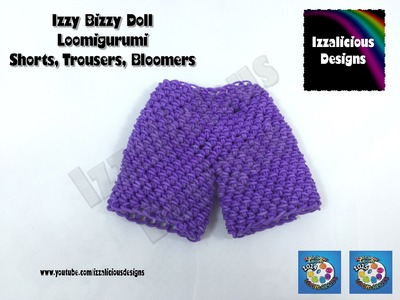 Loomigurumi Izzy Bizzy Doll - Shorts or Trousers - hook only - amigurumi with Rainbow Loom Bands