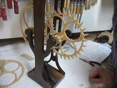 Making the #6 part 4. A wooden gear clock