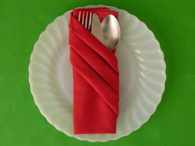Napkin Folding - Fancy Pouch
