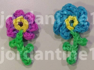 New Flower Charm - Pansy Petunia -Rainbow Loom- Mother's Day