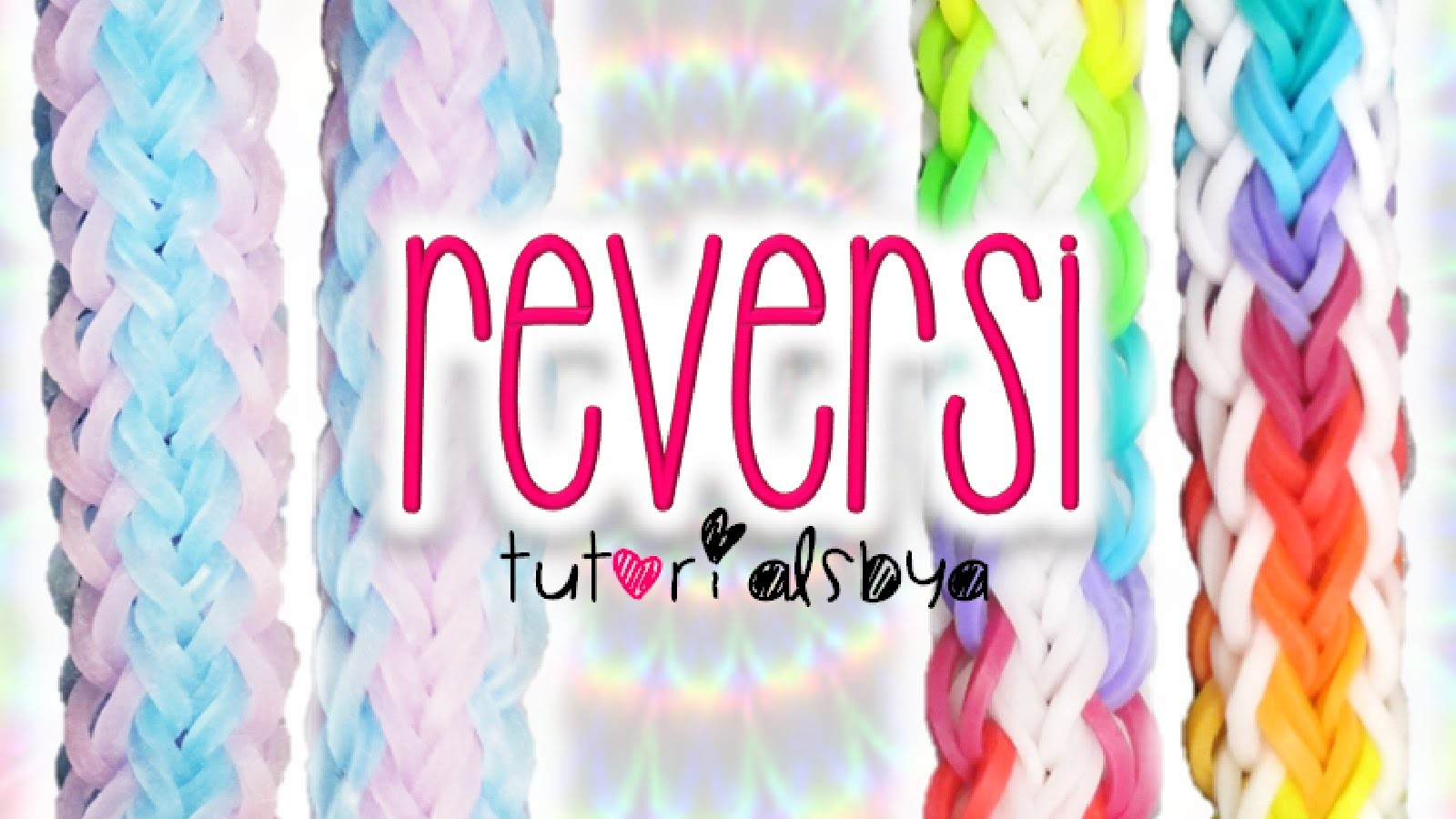 NEW Reversible Reversi Rainbow Loom Bracelet Tutorial | How To
