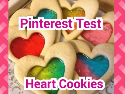 PINTEREST TEST - Valentine's Day Edition Stained Glass Cookies