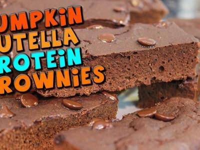 Pumpkin Nutella PROTEIN Brownies Recipe