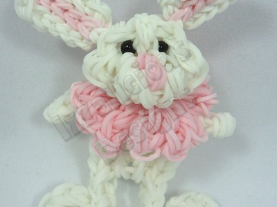 Rabbit | Bunny Charm Figure using the Rainbow Loom