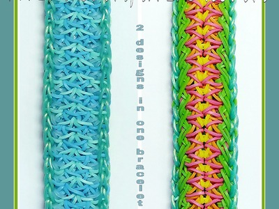 "Rainbow Loom Bracelet ""APRIL SHOWERS, SPRING FLOWERS"" (Original Design) (ref #5ee)"