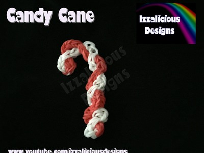 Rainbow Loom Candy Cane Christmas.Xmas Charm.Ornament