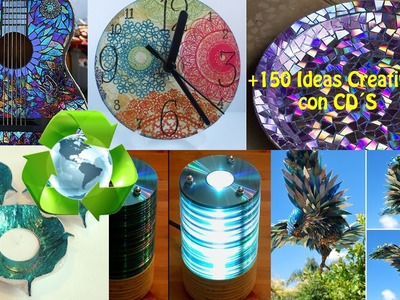 Reciclaje CD´s +150 Ideas. Recycling CDs +150 Ideas.
