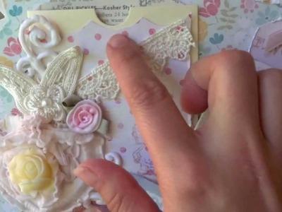 Shabby Chic Recipe Mini Album - Queen of the Kitchen