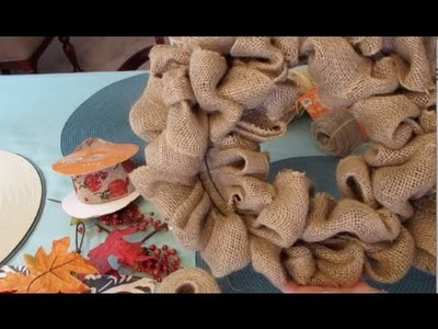 Small Fall Burlap Wreath | How to make loop burlap wreath