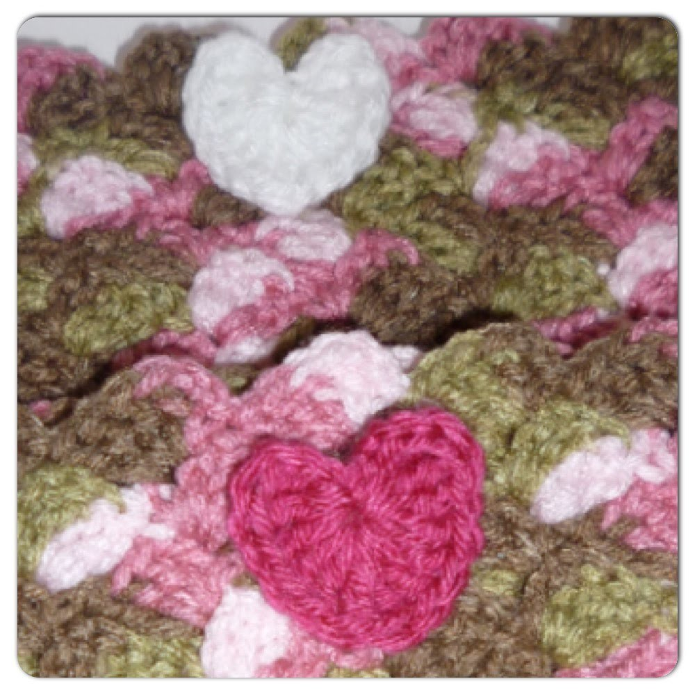 Super Cute & Easy Crocheted Heart Applique | Video Tutorial