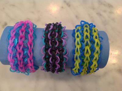 Triple Swirl Rainbow Loom Bracelet