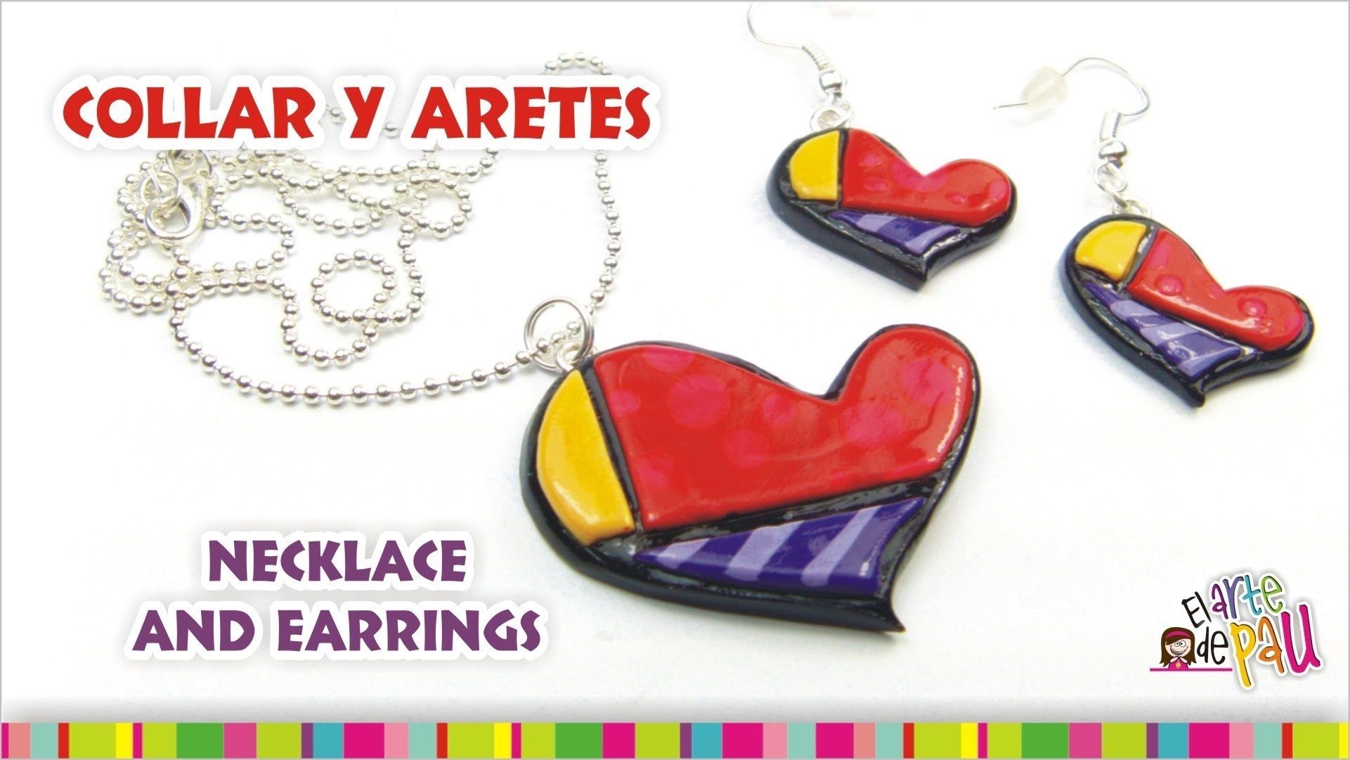 (WINNER 8 MOULDS) Necklace and earrings. (GANADOR 8 MOLDES!) Dije y anillos