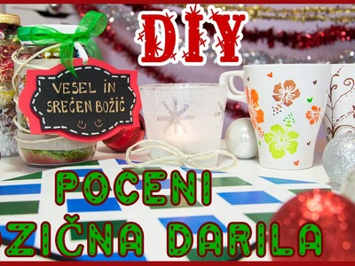 4 DIY POCENI Božična Darila | Gift Ideas for Holiday | Tutorial