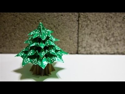 Christmas decorations 2014 - How to make christmas tree with paper  Ep2
