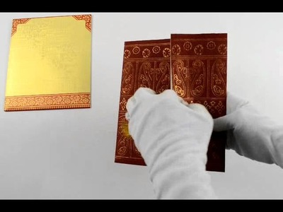 D-133m, Red Color, Handmade Paper, Muslim Cards, House Warming, Muslim Wedding Cards
