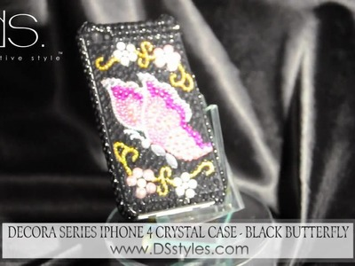 Decora Series iPhone 4 Crystal Case - Black Butterfly from dsstyles.com