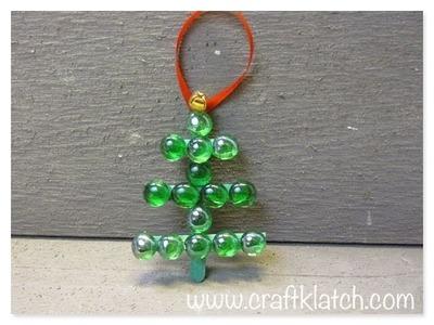 Easy Glass Gem Christmas Tree Craft