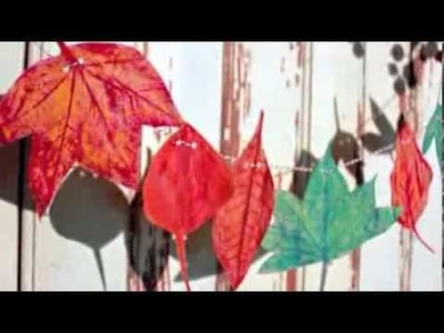Hand Painted Autumn Garland Tutorial