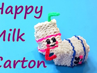 Happy Milk Carton Tutorial by feelinspiffy (Rainbow Loom)