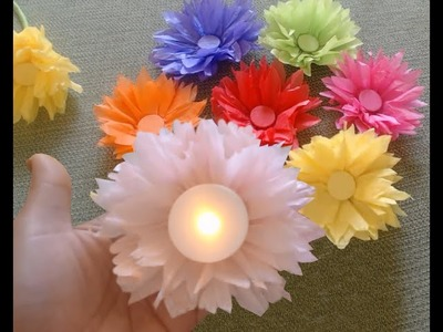 How to make tissue paper. Kite paper flowers - quick and easy