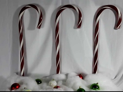 Lighted Christmas Candy Cane Path Markers